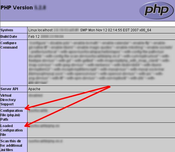 Путь к файлу php.ini